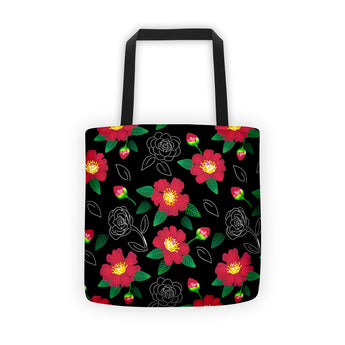 Tote bag - Red Camellias