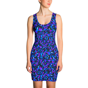 Bodycon Dress - Wild Thing, Blue