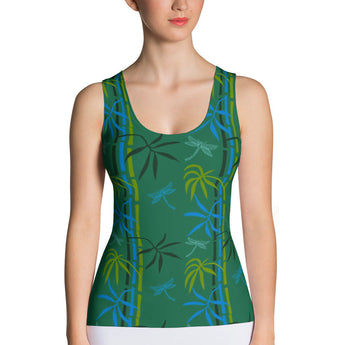 Tank Top - Dragonflies in Bamboo Forest