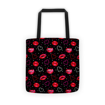 Tote Bag - Hot Lips with Hearts