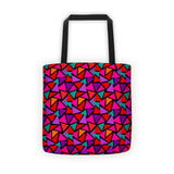 Tote Bag - Triangles, Red Multi-colored