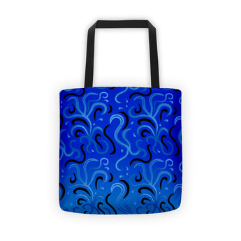 Tote bag - Blue Squiggles