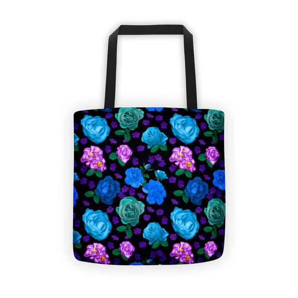 Tote bag - Romantic Roses, Blue