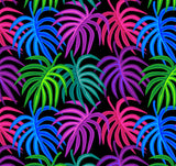 Tank Top - Neon Tropical Leaves