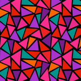 Tank Top - Triangles, Red Multi-colored