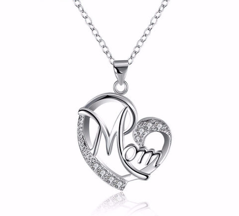 Jewelry for mom beautiful silver heart pendant necklace with cz jewelry for mom beautiful silver heart pendant necklace with cz stones mozeypictures Images