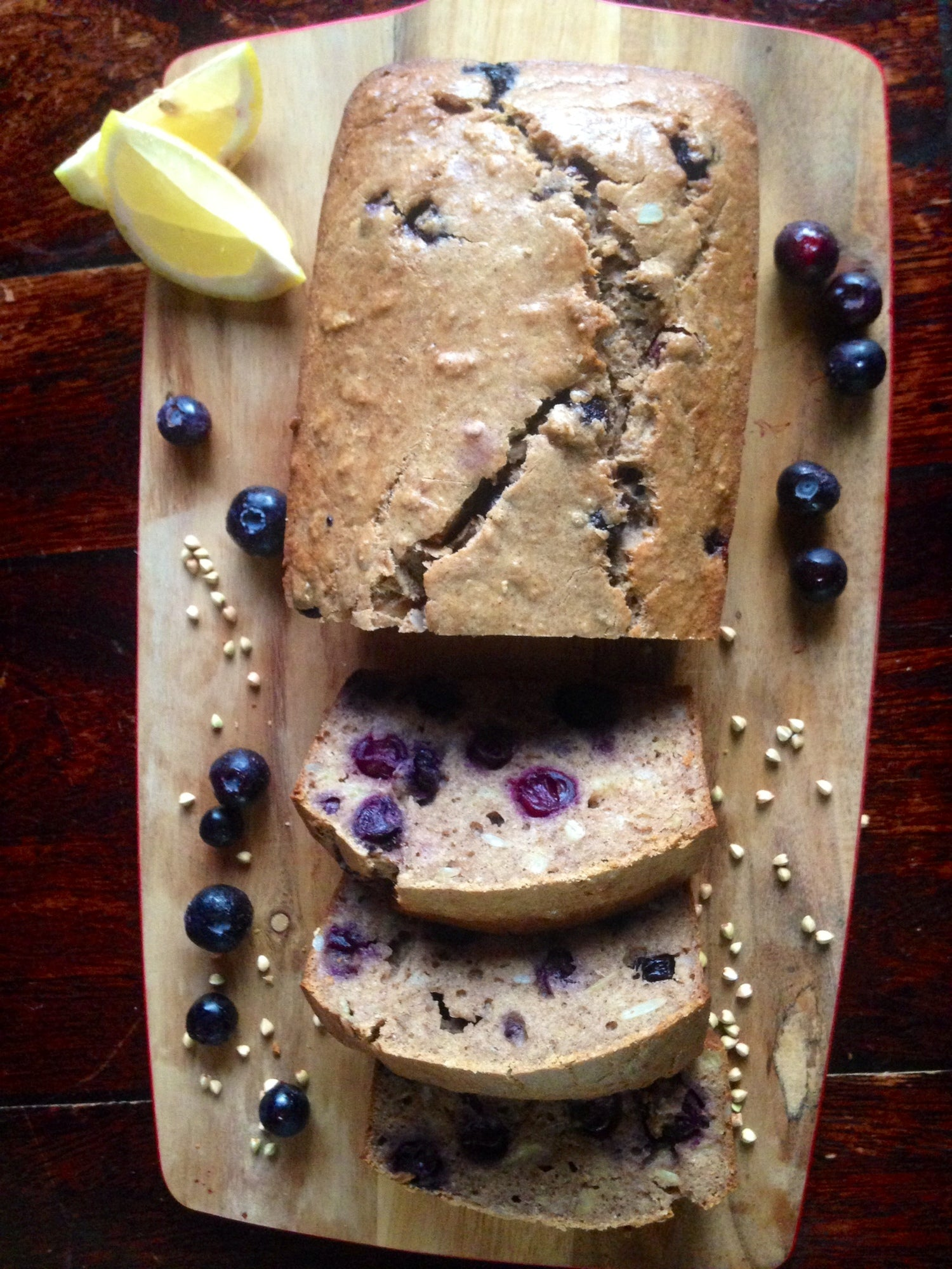 Blueberry and Buckwheat Loaf with a Touch of Lemon