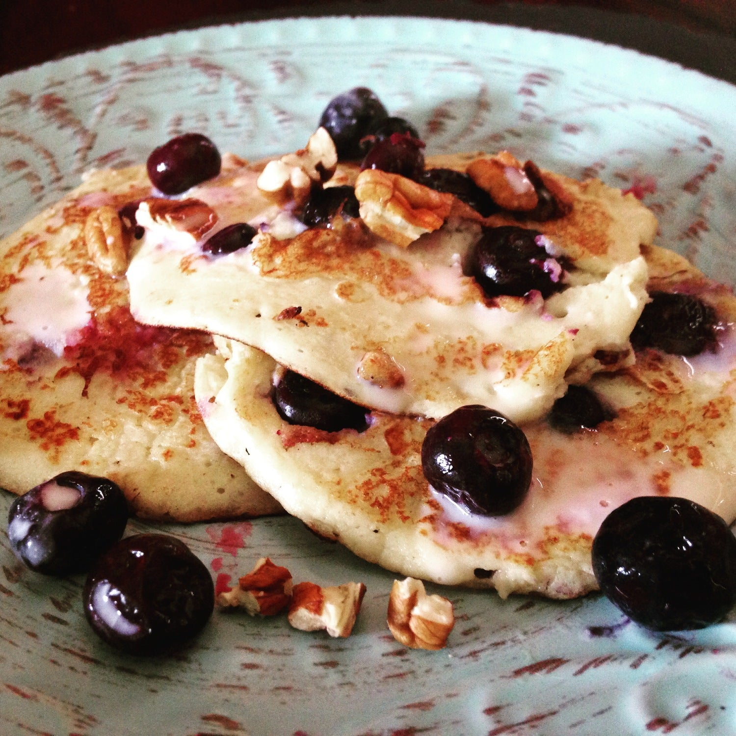 Ricotta and Blueberry Pancakes