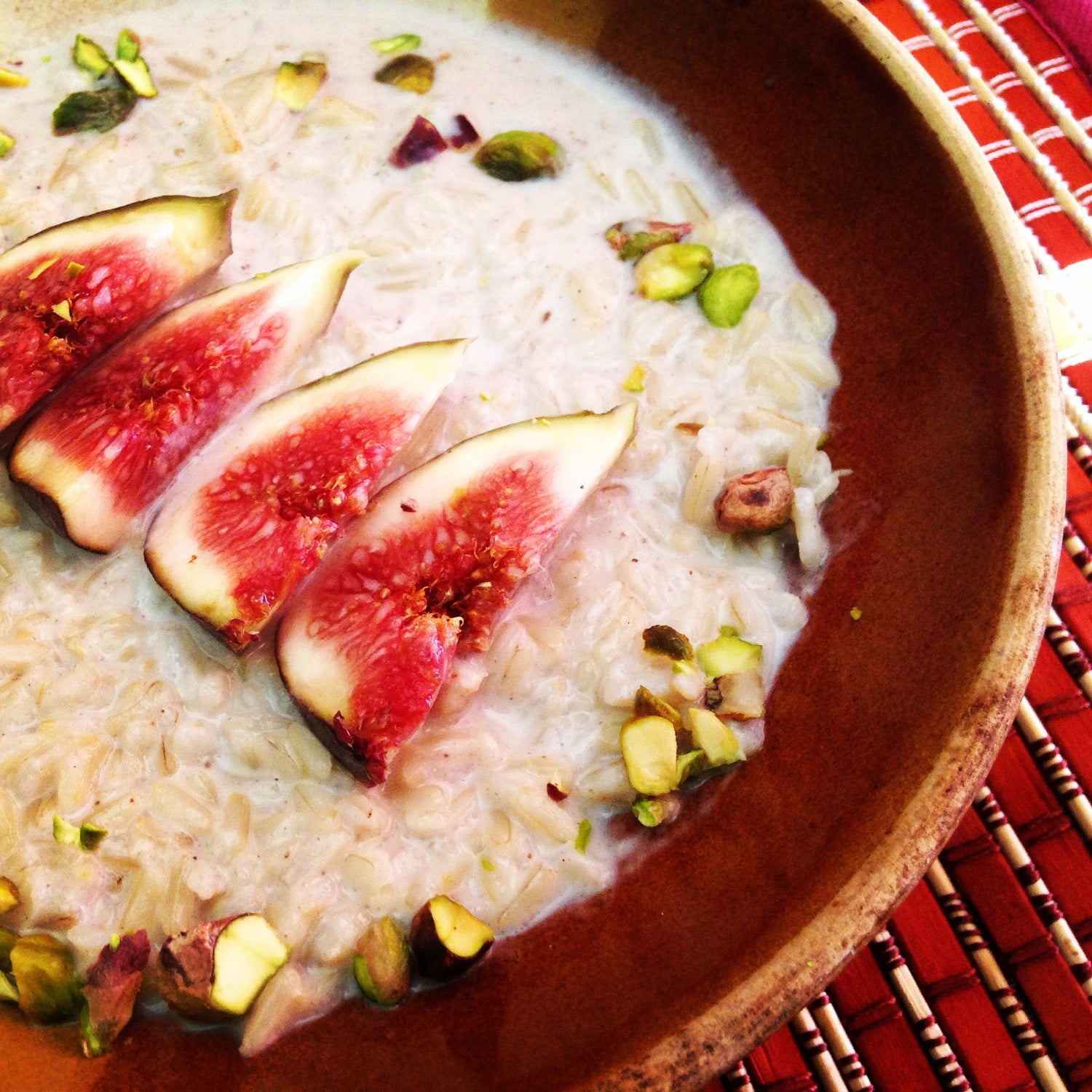 Sweet Brown Rice and Coconut Breakfast Bowl