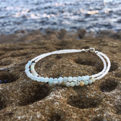 Amazonite & Aquamarine Bracelet Handmade with Aloha by House of Aloha Central Coast NSW Australia