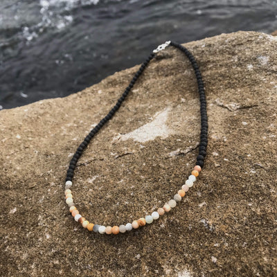 Amazonite and Sunstone Positivity & Emotional Balance Necklace