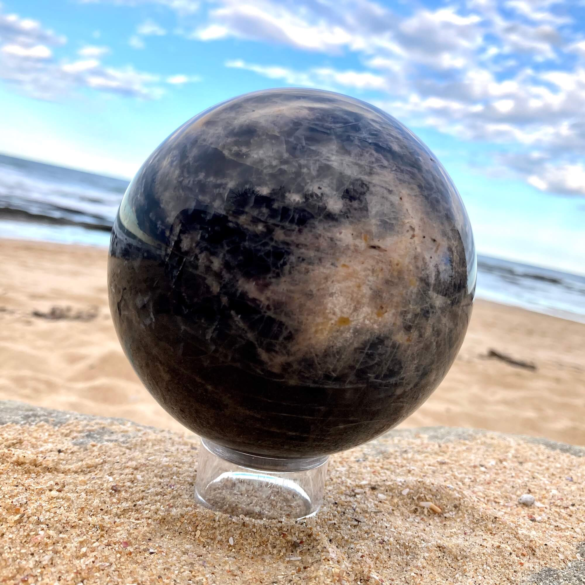 Black Moonstone Sphere 5