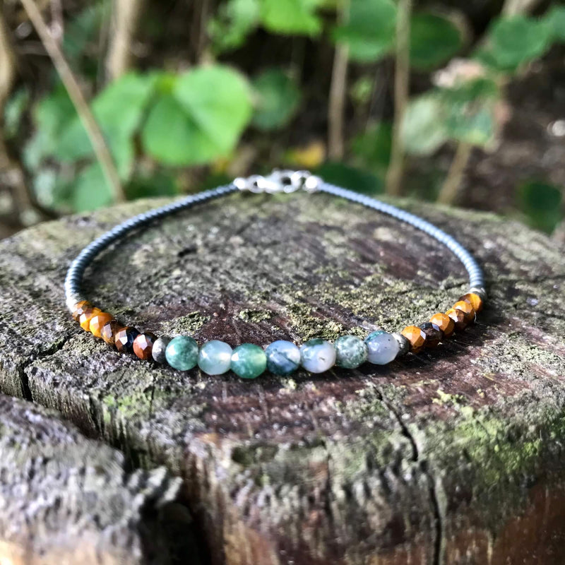 Earth Elements Crystal Anklet