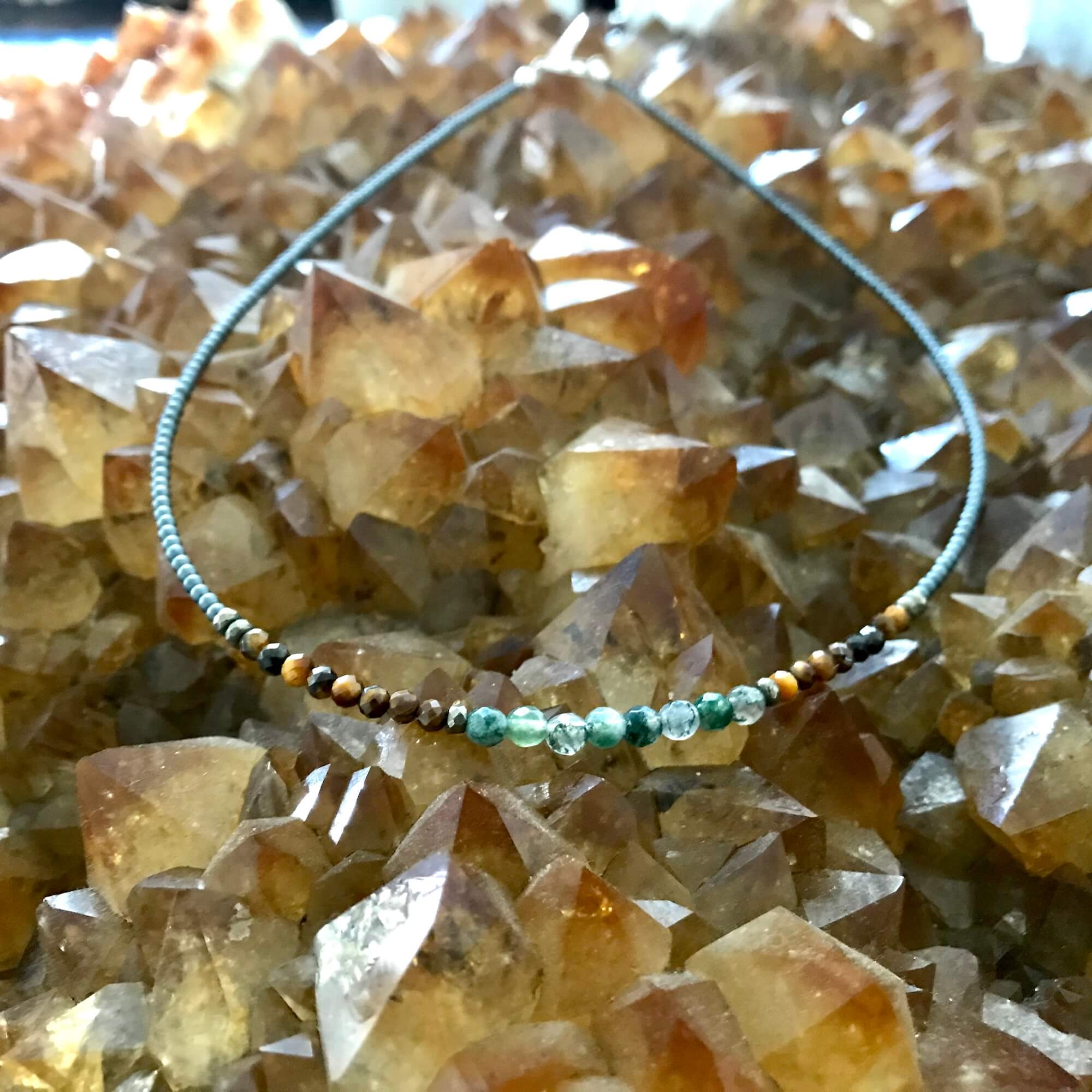 Earth Elements Healing Crystal Necklace