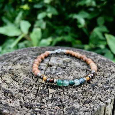 Earth Sign Elements Ladies healing crystal Bracelet