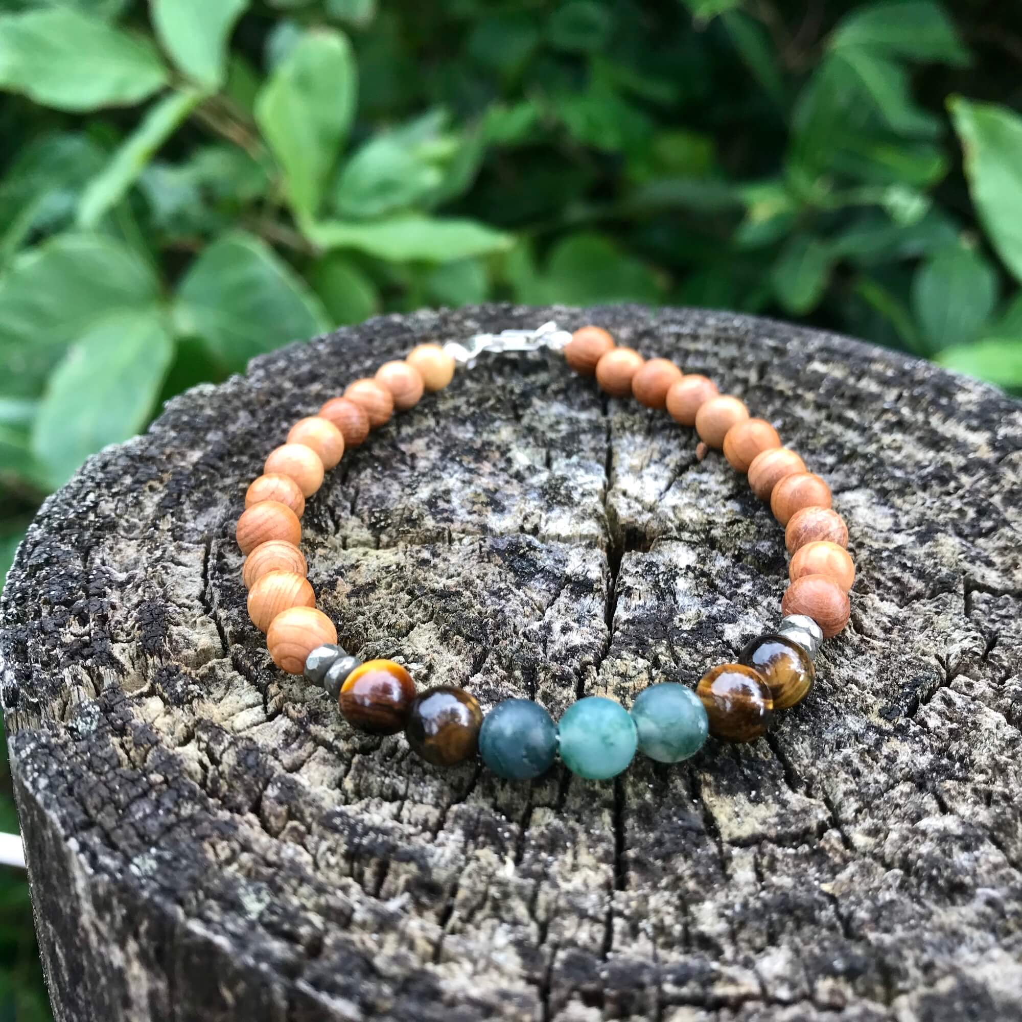 Earth Sign Elements Mens healing crystal Bracelet