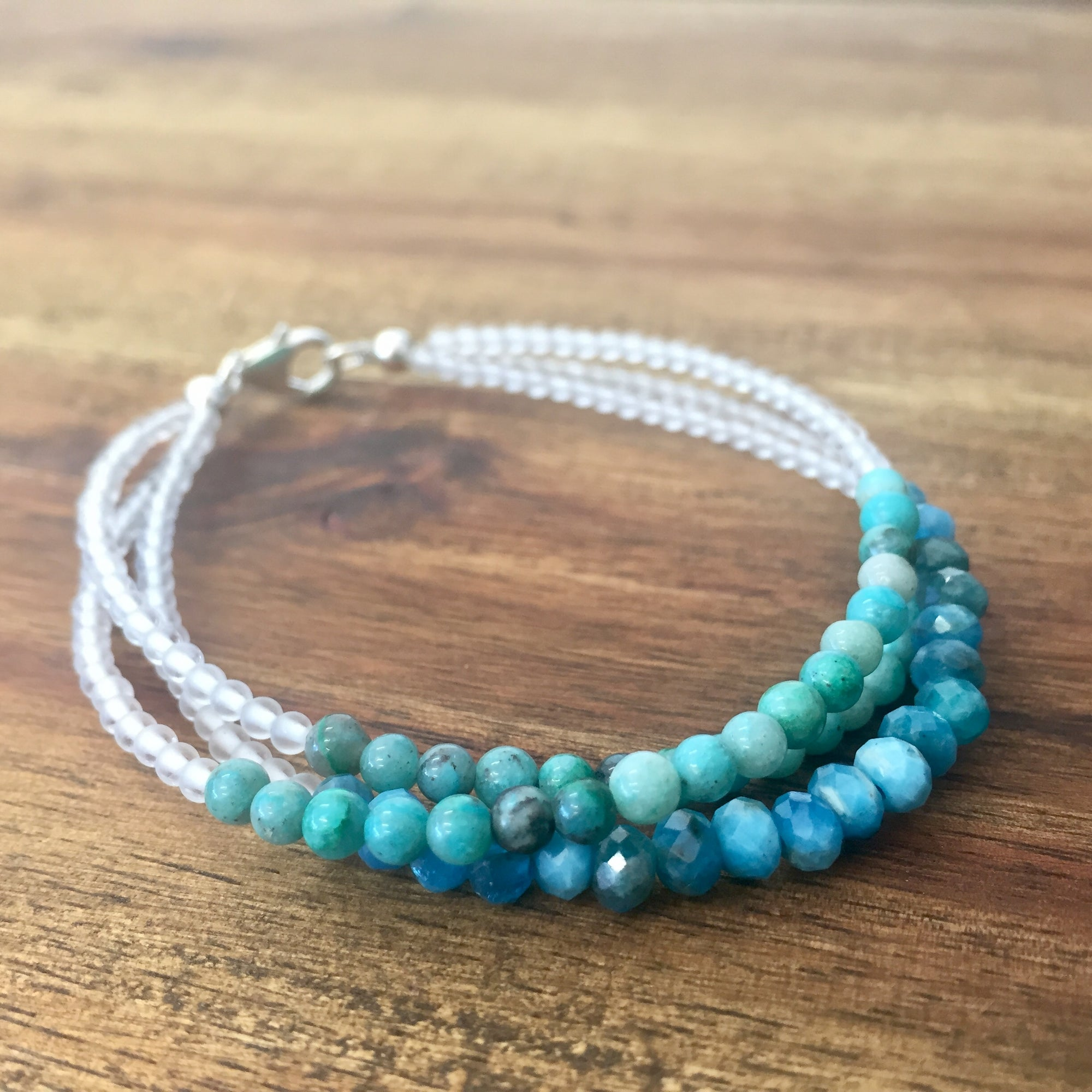 Little Mermaid Multi-Strand Chrysocolla & Apatite Bracelet - Limited Edition