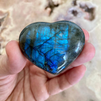 Labradorite heart Large-Medium 3