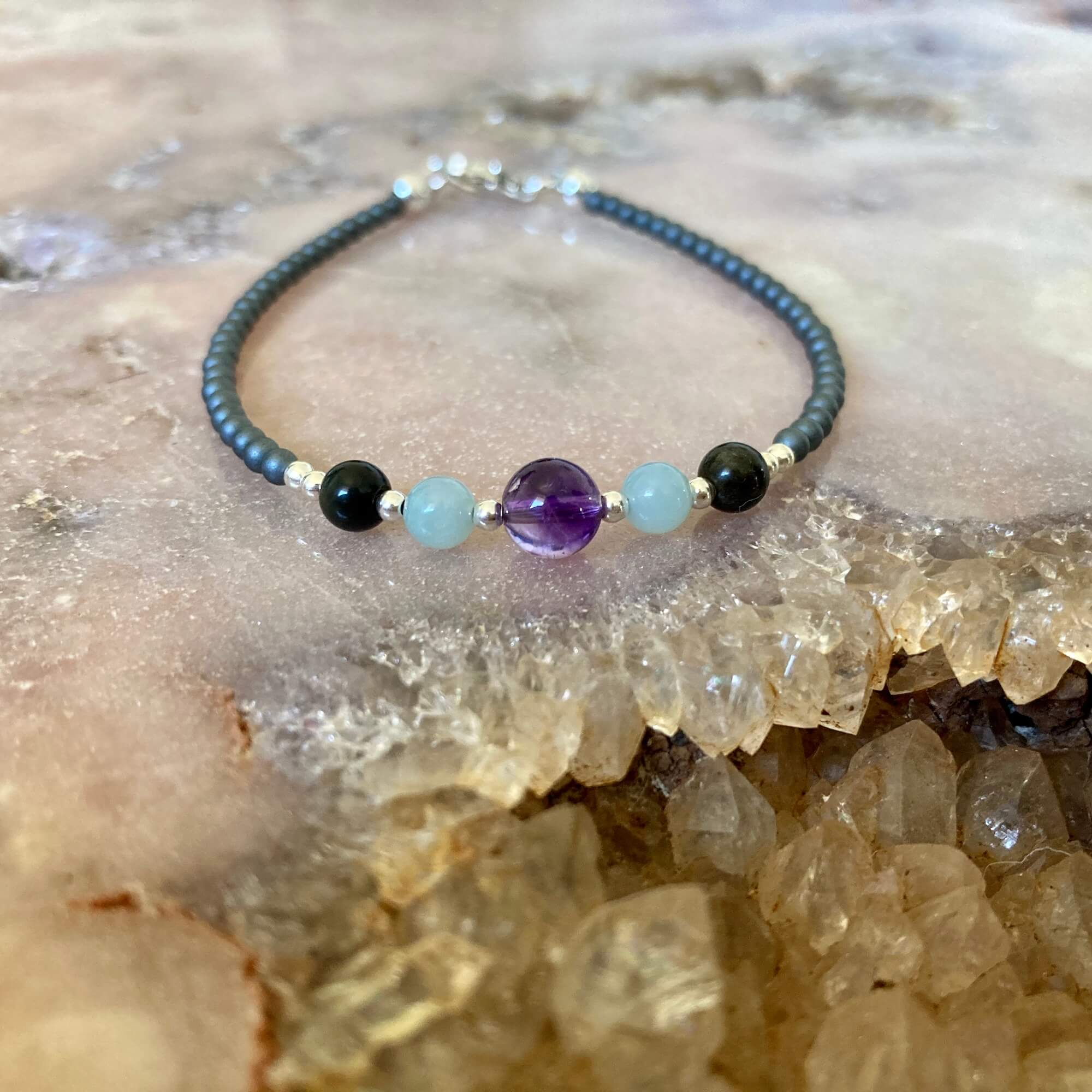 Ladies aquarius bracelet for healing