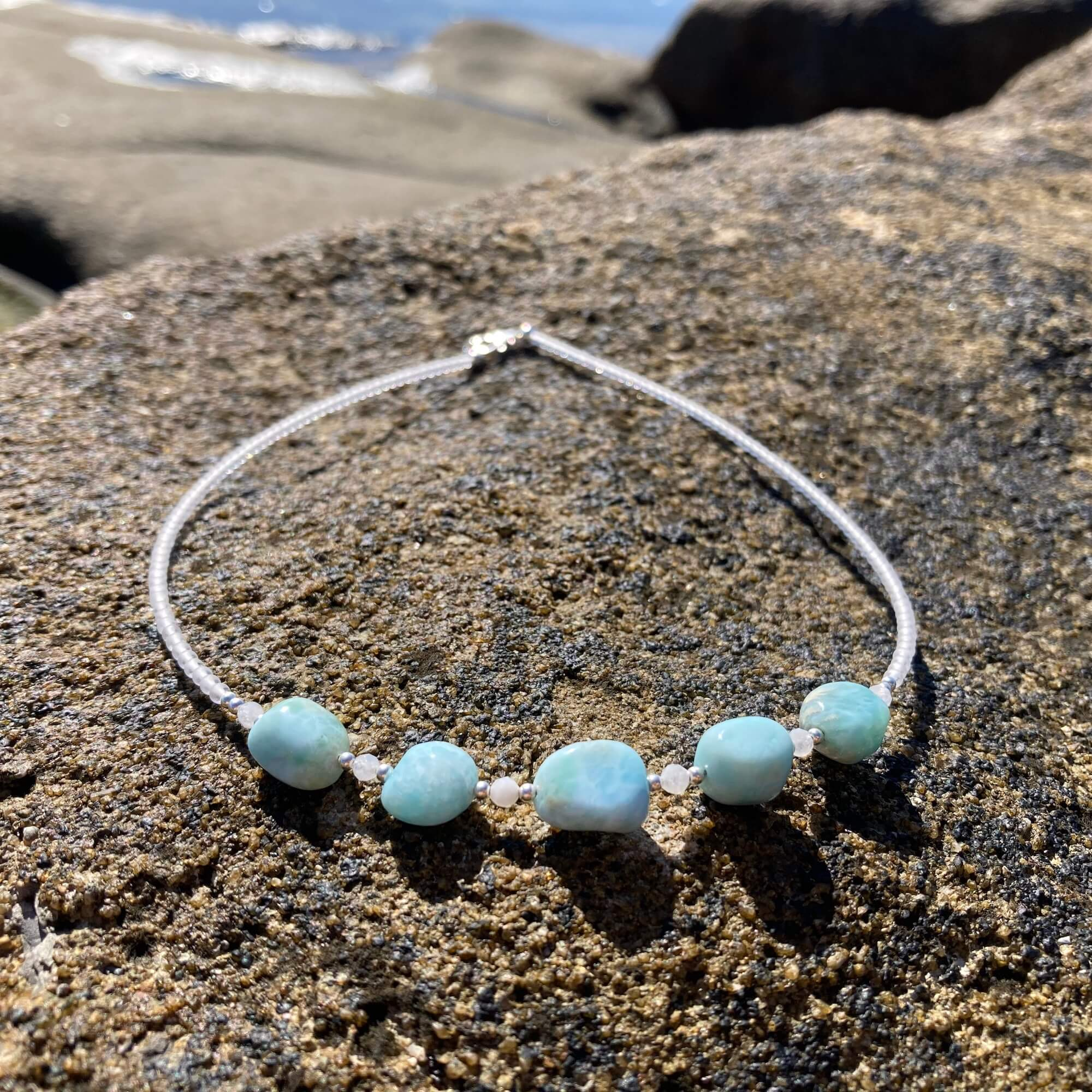 larimar & moonstone ladies necklace