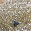Lava Rock Sterling Silver Necklace