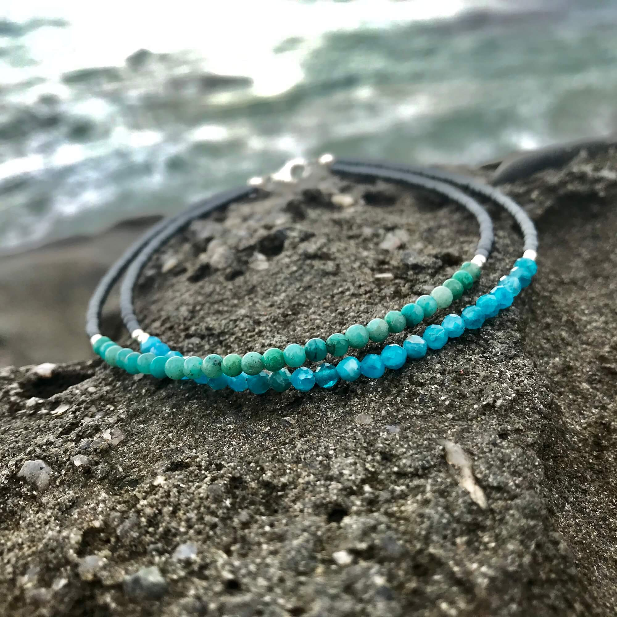 Little Mermaid Double Strand Anklet for healing