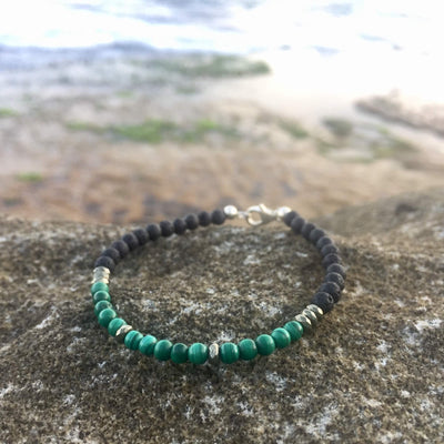 Malachite & Pyrite Bracelet for essential oils