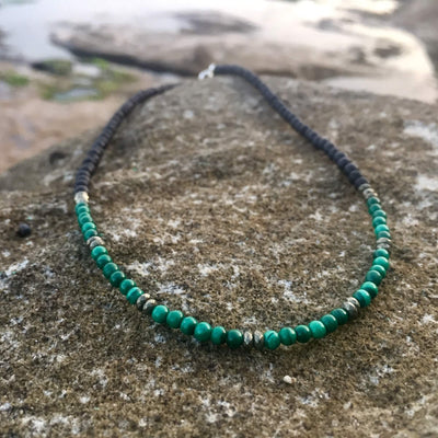 Malachite & Pyrite Diffuser Necklace