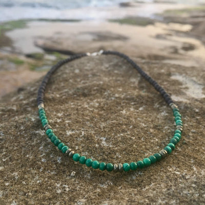 Malachite & Pyrite Lava Stone Diffuser Necklace