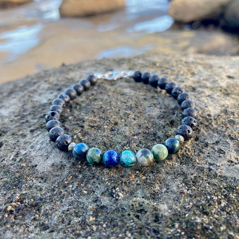 Mens Azurite Bracelet for healing