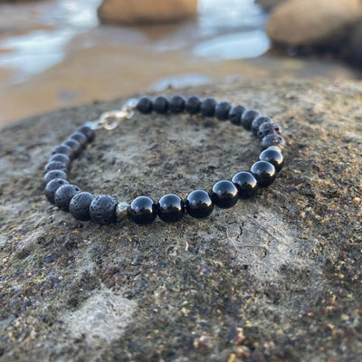 Mens Black Tourmaline Bracelet