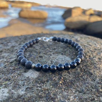 Mens Black Tourmaline Bracelet for empowerment