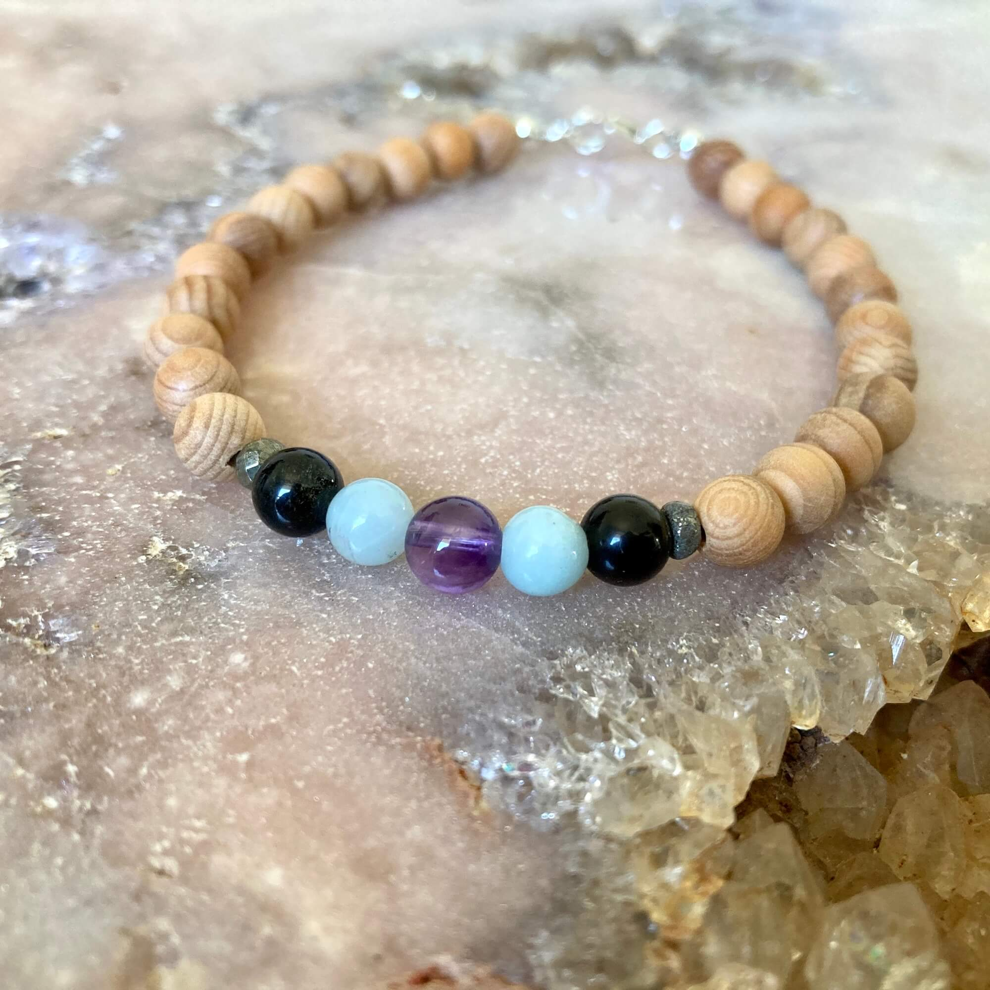 Mens aquarius bracelet