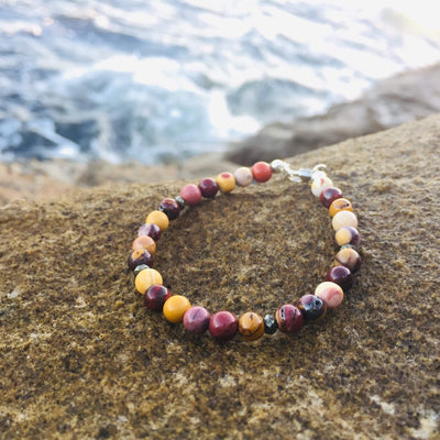 Mookaite Bracelet with Pyrite Handmade with Aloha by House of Aloha Central Coast NSW Australia