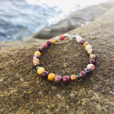 Mookaite & Pyrite Bracelet Handmade with Aloha by House of Aloha Central Coast NSW Australia