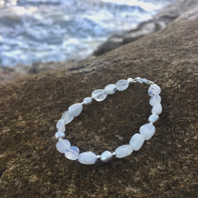 Moonstone & Pearl Bracelet Handmade with Aloha by House of Aloha Central Coast NSW Australia