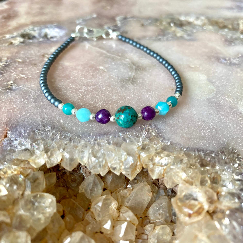 Peacock love ladies healing bracelet