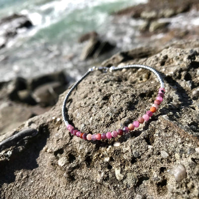 Ruby Ladies healing Anklet