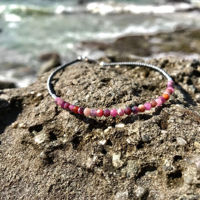 Ruby healing crystal Ladies Anklet