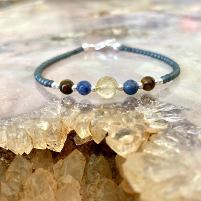 Scorpio Zodiac  crystal healing Bracelet for ladies