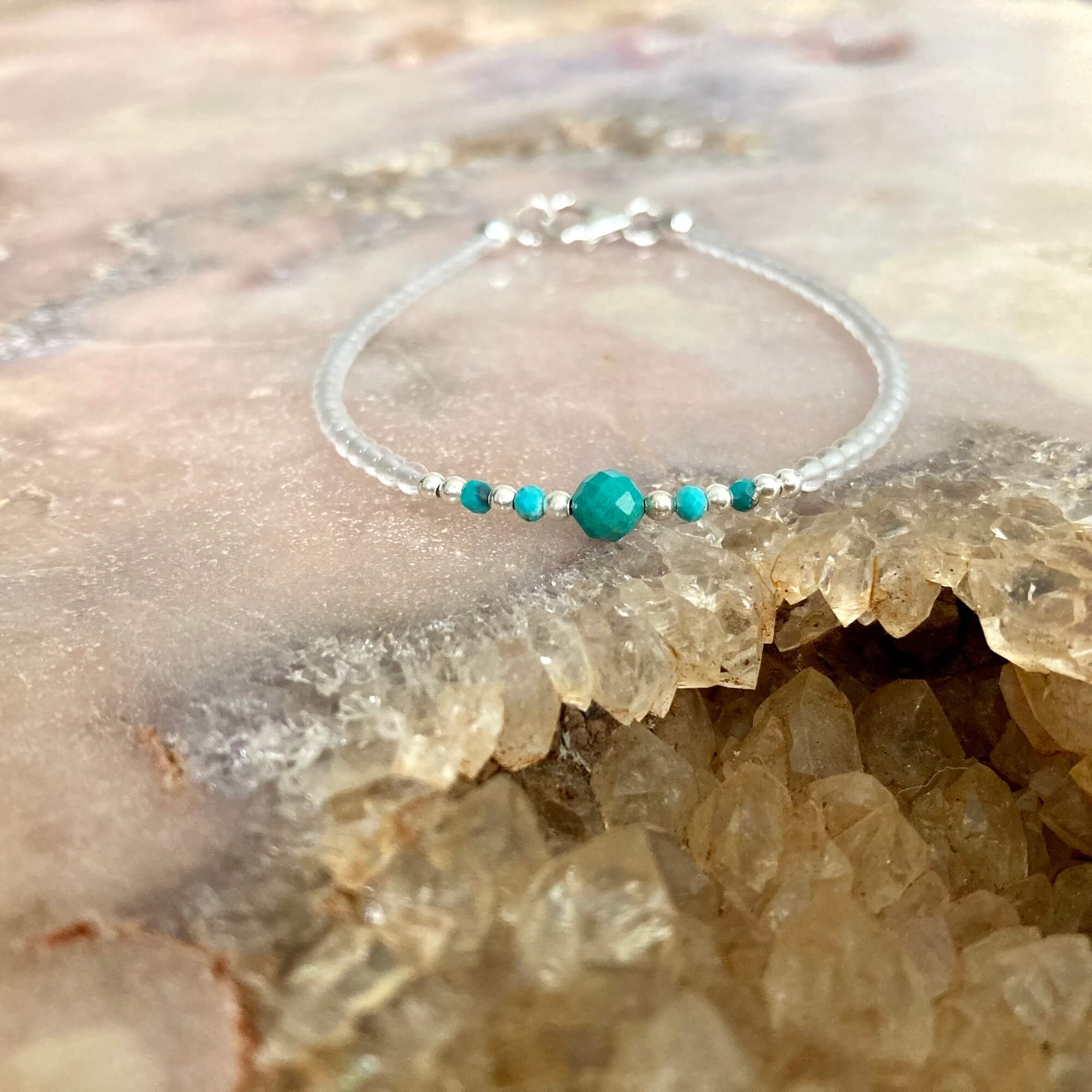 Turquoise bracelet for healing ladies