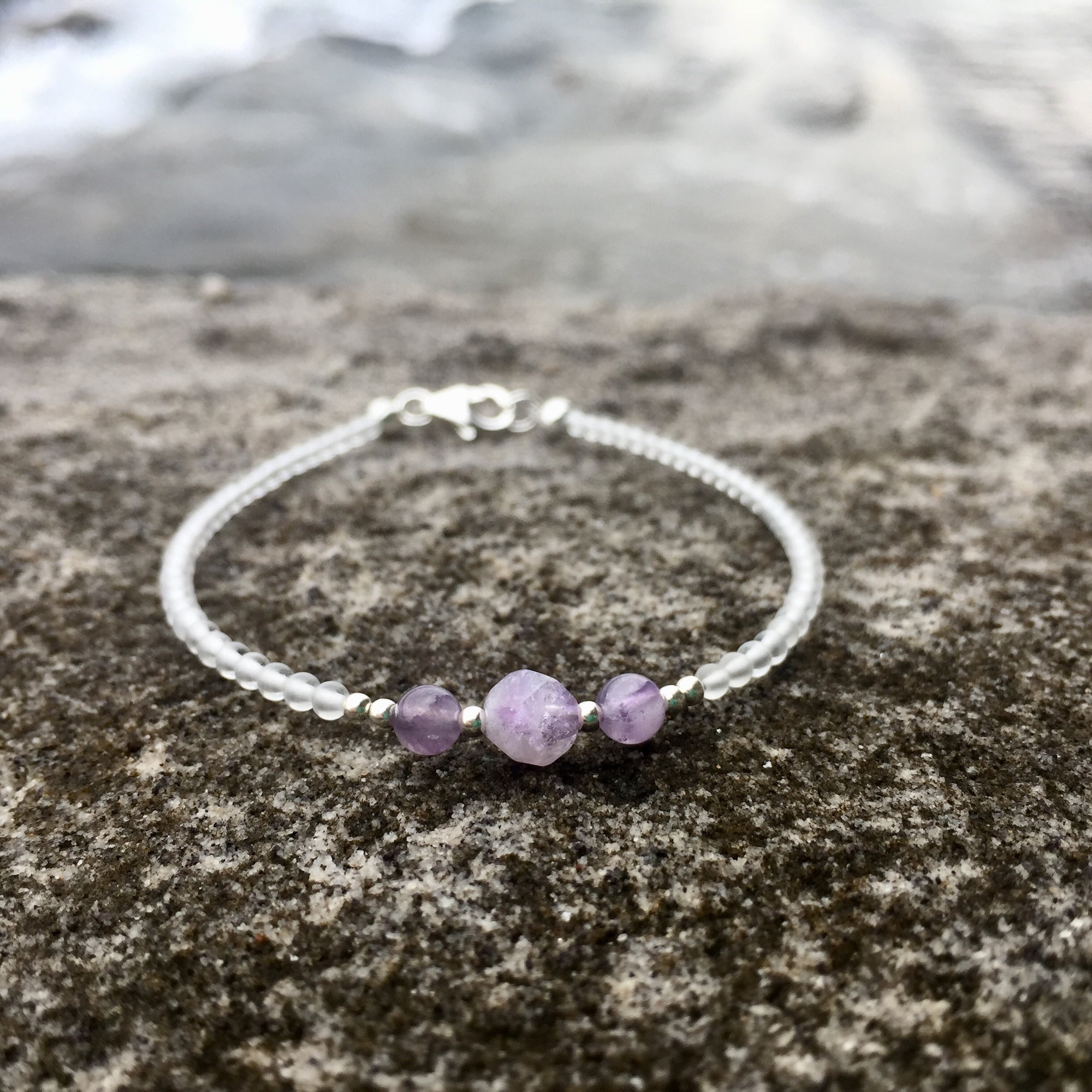 ladies amethyst birthstone bracelet