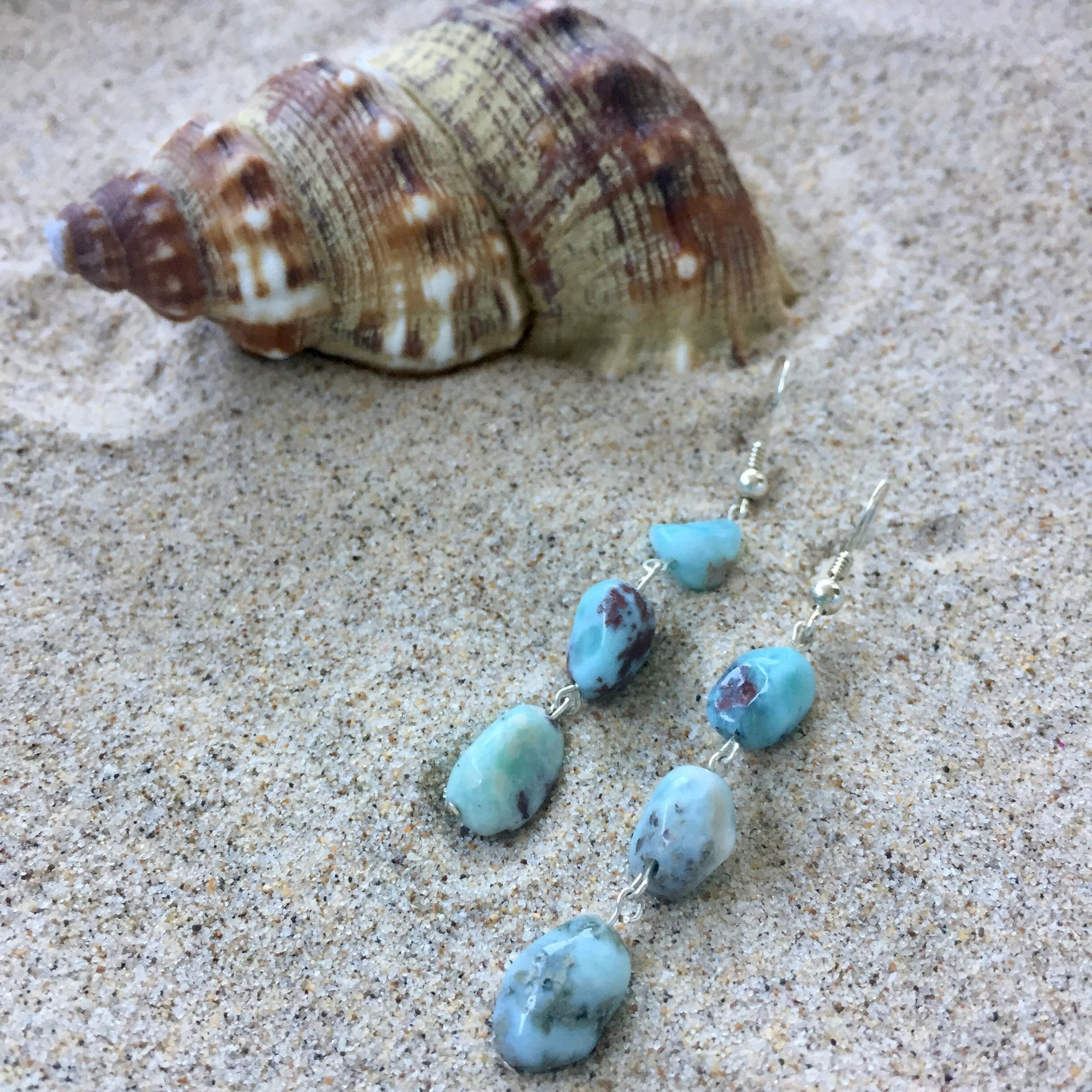 Lil Aloha Larimar Earrings