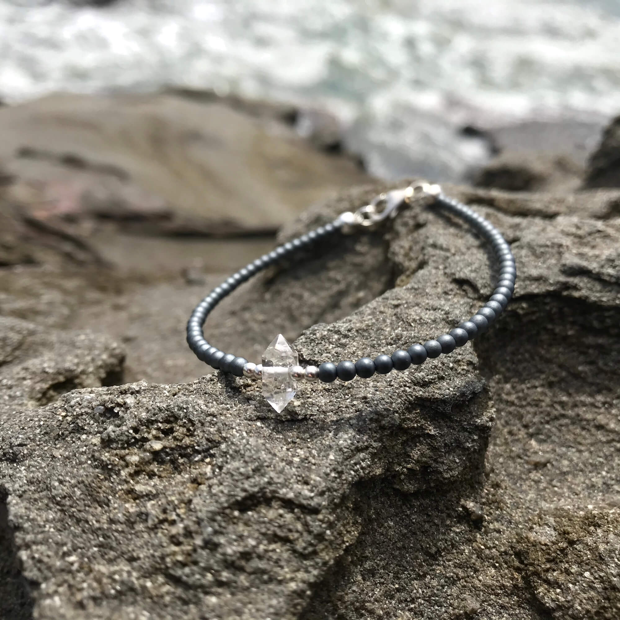 seeker of light herkimer diamond healing bracelet