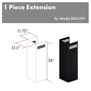 ZLINE 1-36 in. Chimney Extension for 9 ft. to 10 ft. Ceilings ,1PCEXT-BS655N - Farmhouse Kitchen and Bath