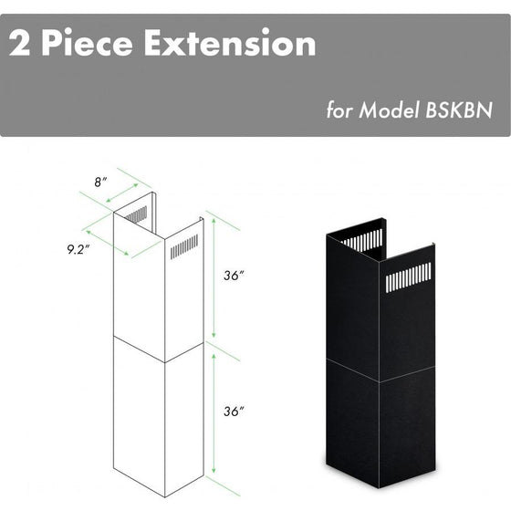 "ZLINE 2-36"" Chimney Extensions, 10'-12' Ceilings, 2PCEXT-BSKBN - Farmhouse Kitchen and Bath"