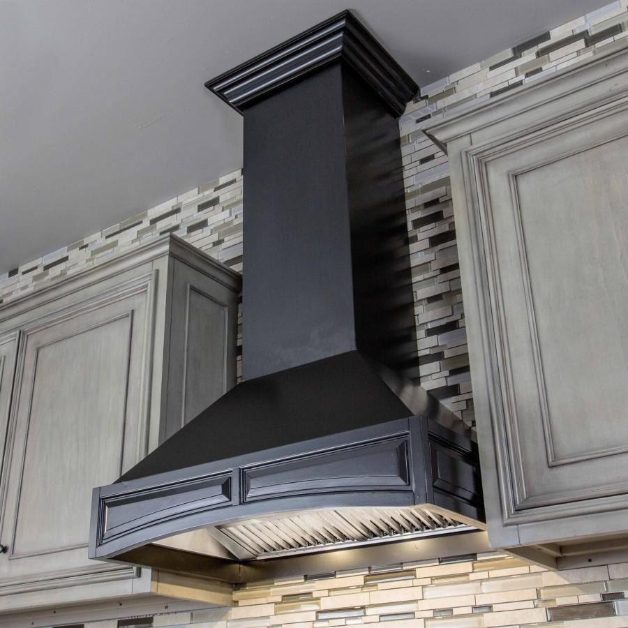 "ZLINE 30"" Designer Wooden Wall Range Hood, Crown Molding, 321CC-30 - Farmhouse Kitchen and Bath"