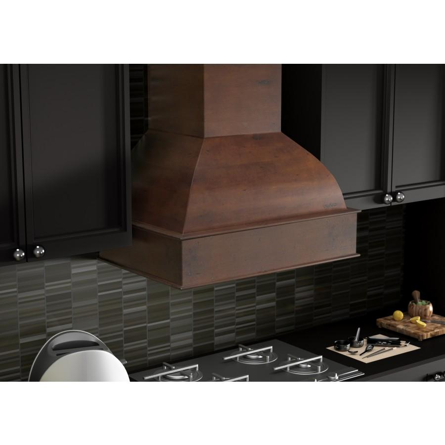"ZLINE 36"" Wooden Wall Range Hood, Remote Motor, 369WH-RS-36-400 - Farmhouse Kitchen and Bath"