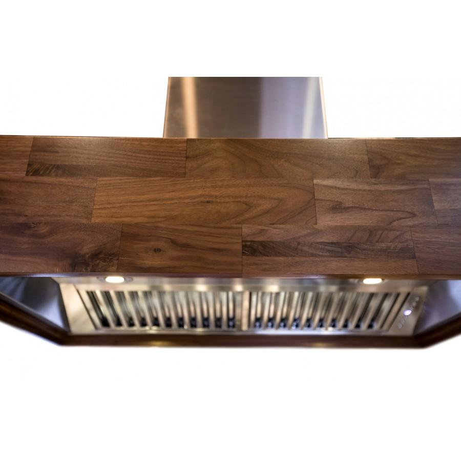"ZLINE 36"" Remote Blower, Wooden Island Range Hood, 681iW-RS-36-400 - Farmhouse Kitchen and Bath"