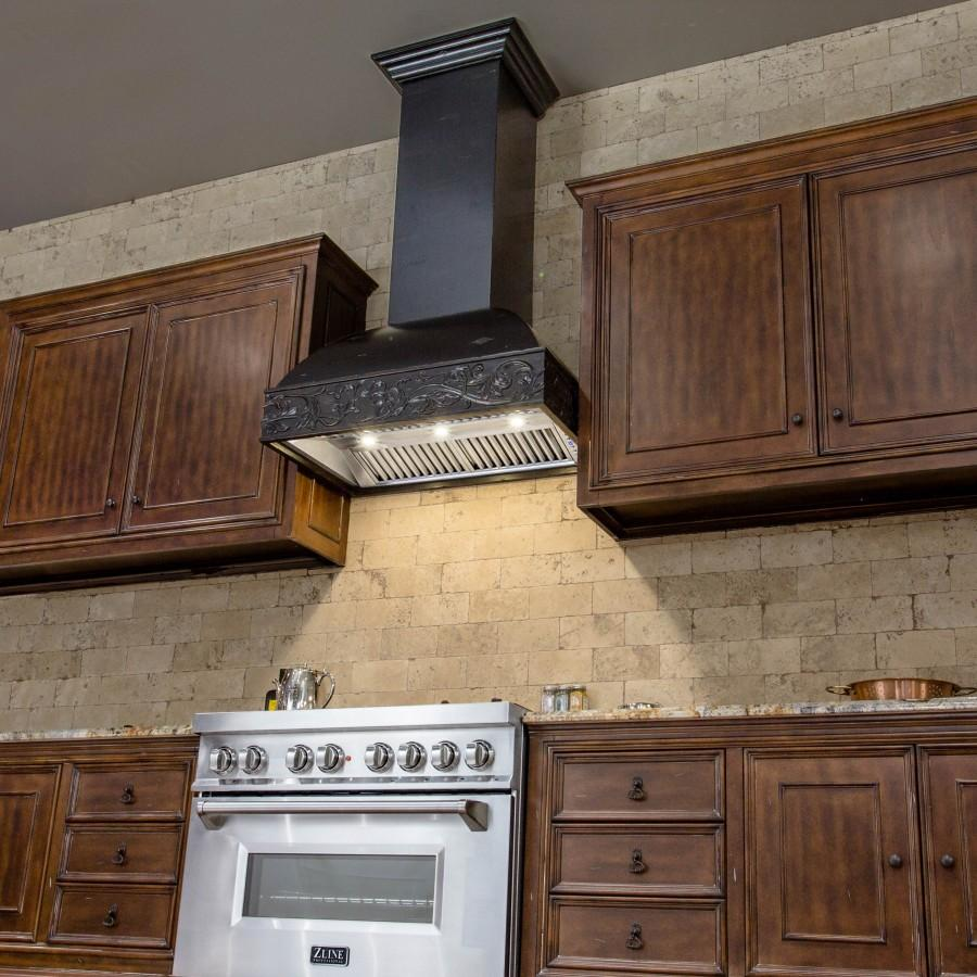 "ZLINE 30"" Wooden Wall Range Hood, Remote Motor, 393AA-RS-30-400 - Farmhouse Kitchen and Bath"